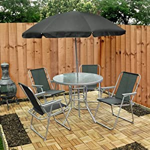 6 Piece Garden Furniture Patio Set inc Chairs Table