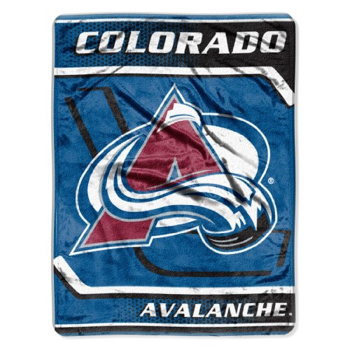 NHL Colorado Avalanche Banner Royal Plush Raschel Throw Blanket 60x80-InchB001D75UP4