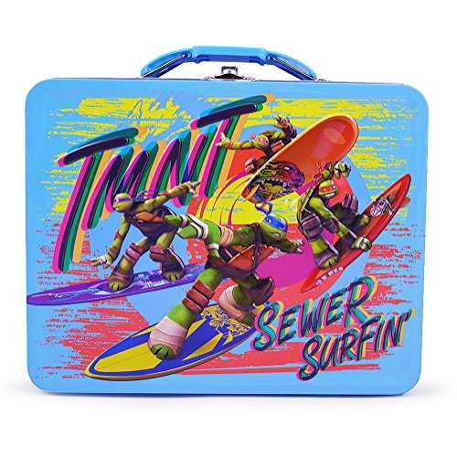 TMNT Tin Lunch Box - Sewer Surfin' - 1