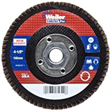 "Weiler Vortec Pro Abrasive Flap Disc, Type 27, Threaded Hole, Phenolic Backing, Zirconia Alumina, 4-1/2"" Dia., 40 Grit (Pack of 1)"