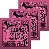 Ernieball Super Slinky(2223)×3セット アーニーボール エレキギター弦
