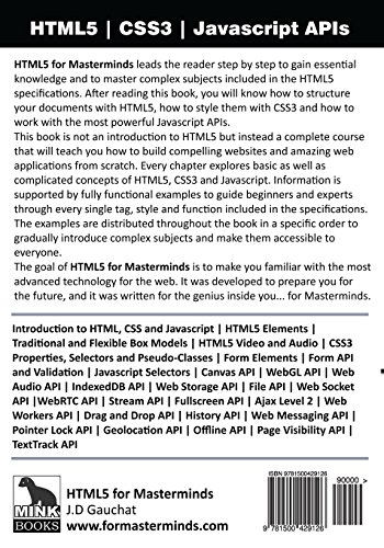 Html5 for Masterminds, Revised 2nd Edition: How to Take Advantage of Html5 to Create Amazing Websites and Revolutionary Applications
