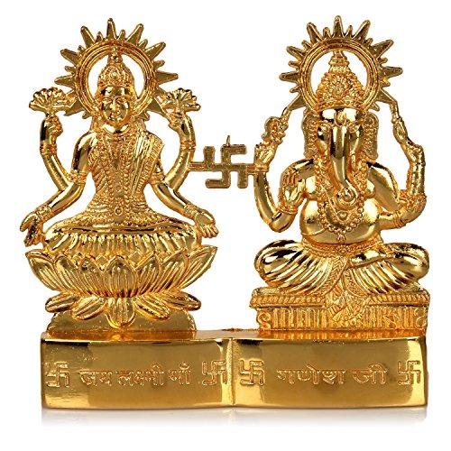 Hashcart Hindu God Laxmi Ganesh Set Statue Idol Murti (4×4 inch)