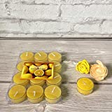 Devinez Scented Lemon Smokeless Tealight Candles With Crystal Case, (Pack Of 12), 4.5 Hour Buring