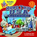 Orange Circle Studio 2014 Activity Wall Calendar, Road Trip U.S.A. (51125)
