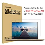 Orzero for Lenovo Yoga 720 13.3 inch ONLY (NOT FIT for Yoga 730 and 720 13 inch or 15.6 Version) Tempered Glass Screen Protector, Bubble-Free 9 Hardness HD [Lifetime Replacement Warranty] (Color: Clean)