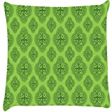 Snoogg Life Symptoms Green Trees Cushion Cover Throw Pillows 16 X 16 Inch