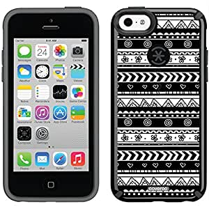 Coveroo CandyShell Cell Phone Case for iPhone 5c - Retail Packaging - Tribal Black & White