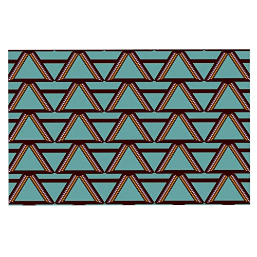 "Kess Inhouse Nina May ""Deco Angels Choco Mint"" Decorative Doormat, 24 By 36-Inch front-1023466"
