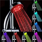 Pixnor Novelty Round Shaped Multi-color Changing LED Light Water Shower Head Shower Faucet Nozzle
