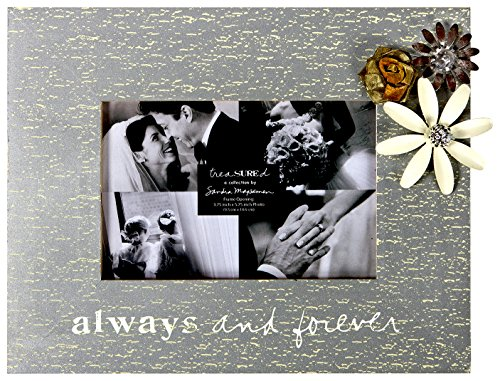 C.R. Gibson Treasured Photo Frame, 4 by 6-Inch, Always and Forever