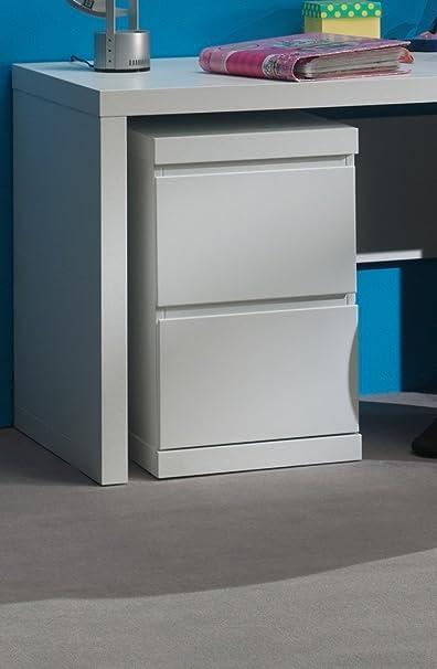 Bunk lark1214Lara Filing Cabinet for Office White MDF 60x 40x 65.5cm