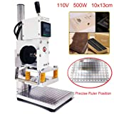 Upgraded Hot Foil Stamping Machine 10x13cm Leather Bronzing Pressure Mark Machine 110V withFull Scale onTheBasePlate for PVC Leather PU Paper Logo Embossing (Renewed) (Tamaño: 110V 60Hz)