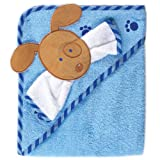 Luvable Friends Fancy Hooded Bath Wrap, Blue