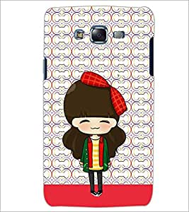 PrintDhaba ANIMO GIRL D-6481 Back Case Cover for SAMSUNG GALAXY J7 (Multi-Coloured)
