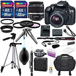 Canon EOS Rebel T6 DSLR Camera with EF-S 18-55mm f/3.5-5.6 IS II Lens, Along with 32GB SDHC, and Deluxe Accessory Bundle