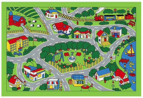 Learning Through Play Kids Road Rugs For Toy Cars