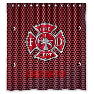 Http Amazon Com Firefighter Waterproof Bathroom Shower Curtain Dp B00n2le8ha