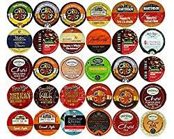 30-count Holiday & Winter Coffee, Tea, Cider, Cappuccino & Chai Single serve cups For Keurig K Cups Brewers Variety Pack Sampler