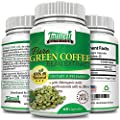 Pure Green Coffee Bean - 800mg - 60 Capsules - GCA (Green Coffee Antioxidants) 50% Chlorogenic Acids - Promotes Weight Loss and Fat Breakdown - Money Back Guarantee By Tallwell Nutrition(tm). Premium Quality Green Coffee Bean Extract Weight Loss Supplemen