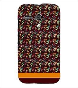 PrintDhaba Pattern D-1855 Back Case Cover for MOTOROLA MOTO G (Multi-Coloured)