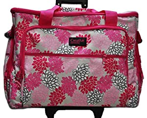 XL Sewing Machine Trolley Pink Grey Floral from Creative Notions