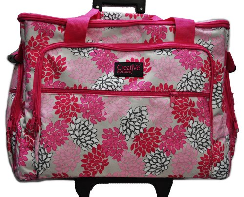 Xl Sewing Machine Trolley Pink Grey Floral front-635957