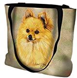 Pure Country Weavers Pomeranian Tote Bag 1147-B 17 inches wide by 17 inches long, 100% cotton