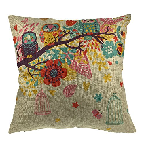 Throw Pillows With Washable Covers : Come2buy Durable Cotton Linen Machine Washable Throw Pillow Case