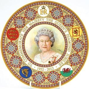"""Caverswall Queen Elizabeth II Diamond Jubilee Plate 8"""""""