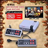 Mini Retro TV Game Console Classic 620 Games Built-in With 2 Controller (AV Out Cable), Children Gift, Birthday Gift