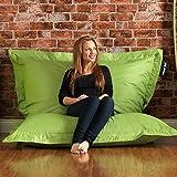 BAZAAR BAG ® - Giant Beanbag LIME GREEN - Indoor & Outdoor Bean Bag - MASSIVE 180x140cm - GREAT for Garden