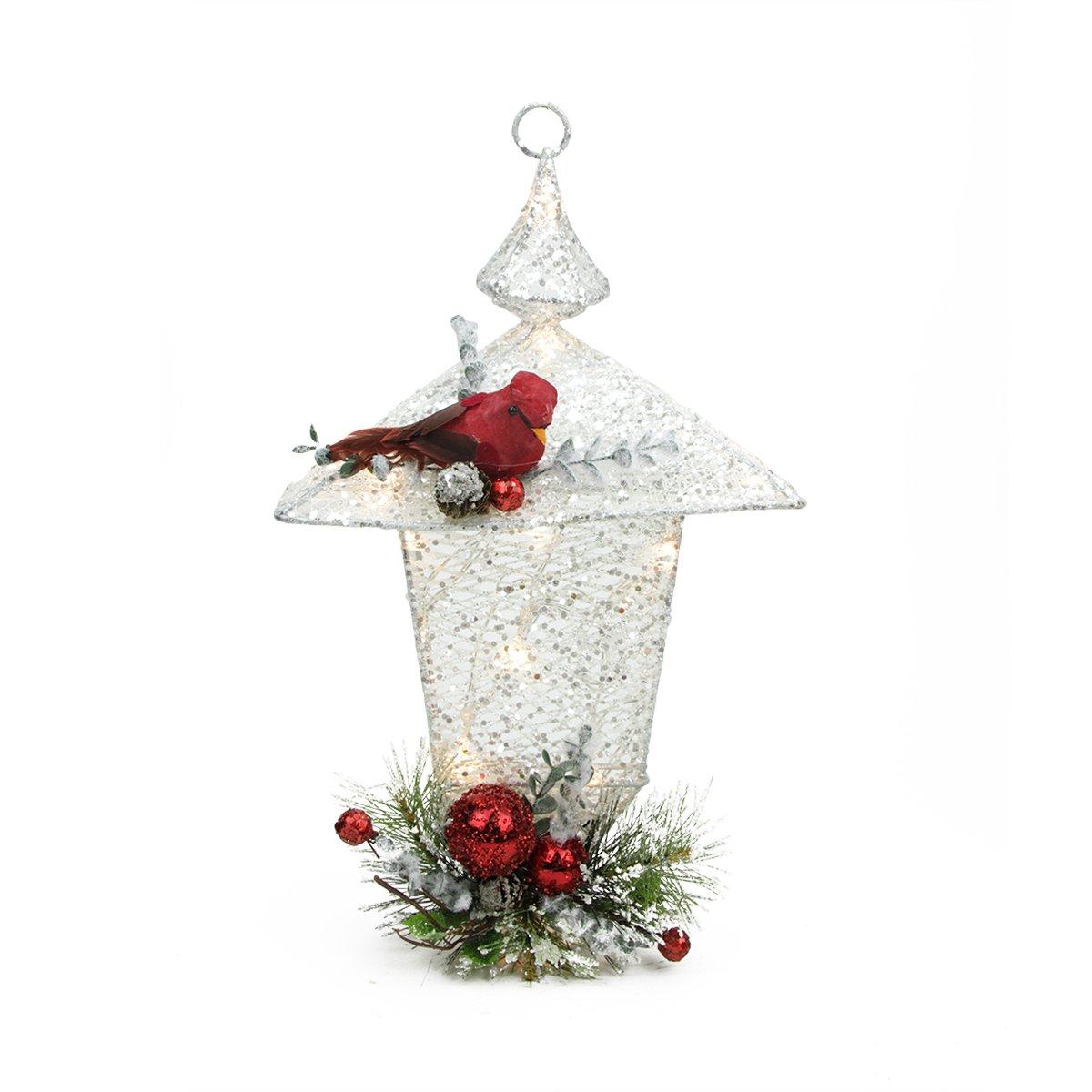 Battery Christmas Lights Amazon Christmas Cardinal Tabletop Lanterns | Christmas Wikii