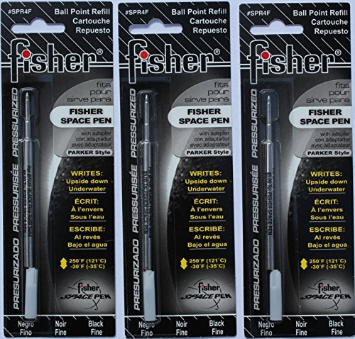 Fisher SPR4F Space Pen Ink Fine Point Refill, Black, 3 Pack (Bullet Space Pen Fine compare prices)