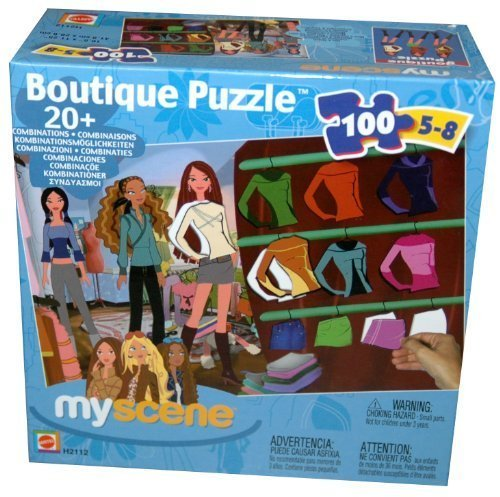 My Scene Boutique 100-Piece Jigsaw Puzzle by Mattel
