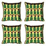 meSleep Green Pineapple Digital Printed Cushion Cover 16x16