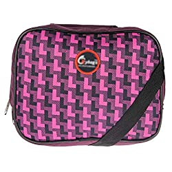 JG Shoppe Pink Polyester Lunch Bag