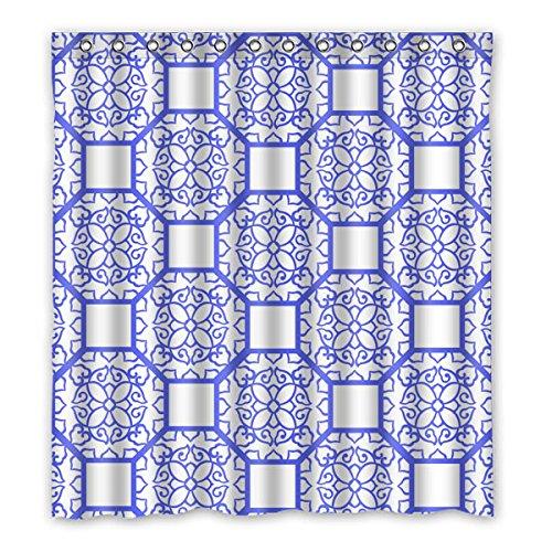 """167 cm x 183 cm (x66 """"x72"""") cortina di Bagno Doccia, Motivo Retro cava scolpita Custom Design muffa tenda di acquazzone impermeabile"""