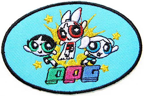 Powerpuff Girl Cartoon Comics Movie Patch Sew Iron on Embroidered Applique Collection Clothing DIY By