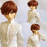1/3 BJD SD Doll Wig High Temperature Synthetic Fiber Short Dark Blonde Cut Boy Man Hair with Bangs BJD Wig Hair Wig BJD Doll Wigs for 1/3 BJD Doll (Color: 130-144)