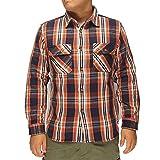AVIREX[アヴィレックス] デイリー フラネル チェックシャツ/6165132--44オレンジ--S