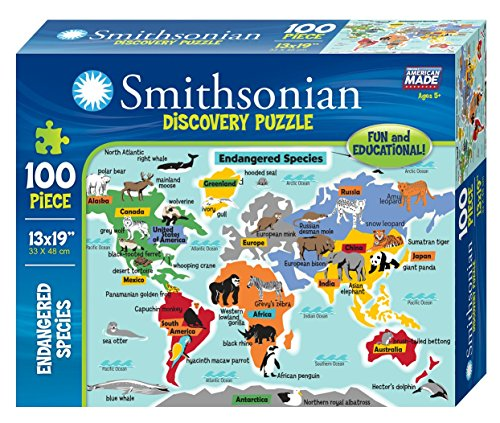 Smithsonian 100-piece Endangered Species Discovery Puzzle (Smithsonian Motor compare prices)