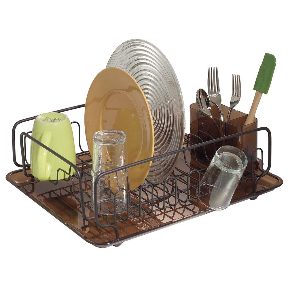 Interdesign Forma Lupe Dish Drainer Amber Bronze New