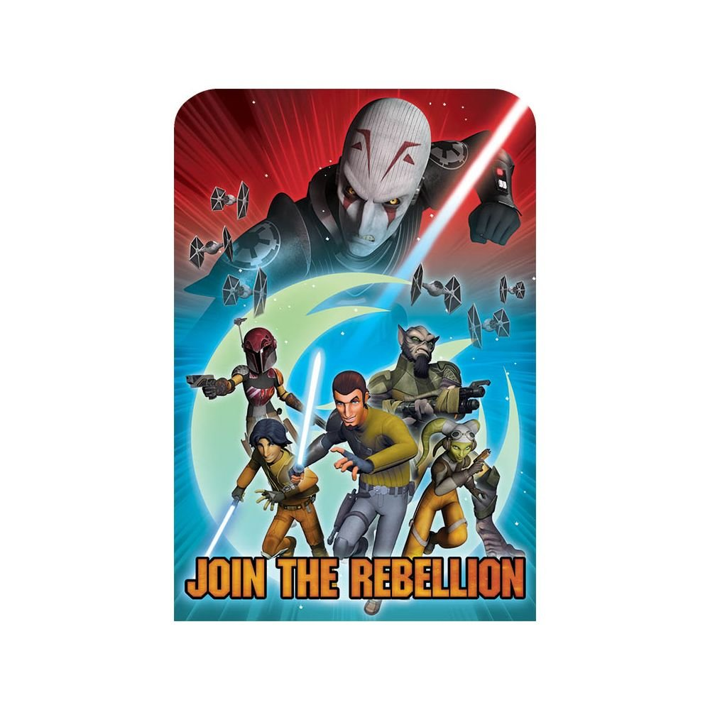 No Need To Guess What Kind Of Event You Will Be Having When Send Out These Star Wars Rebels Invitations This Half Blue And Red