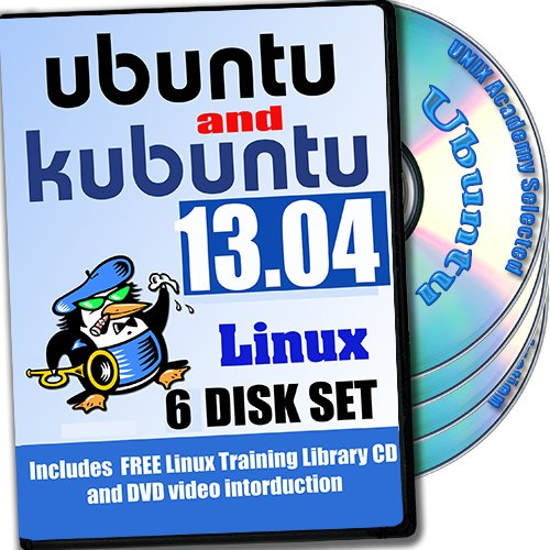 Ubuntu And Kubuntu Linux 13.04, 6-Disks DVD Installation And Reference Set, Ed. 2013