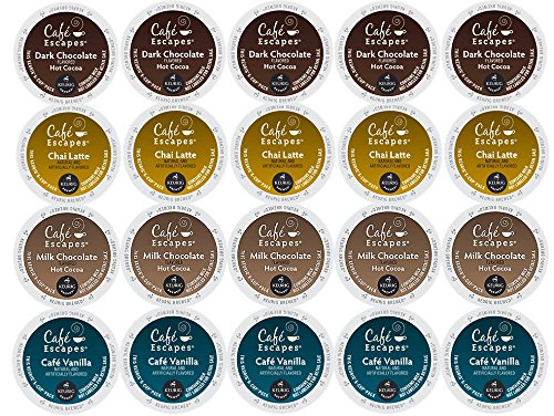 20-Count Cafe Escapes K-Cup Variety Sampler Pack, Single-Serve Cups for Keurig Brewers (Keurig Single Cups compare prices)