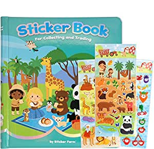 sticker farm original series reusable puffy sticker book for collecting and trading. Black Bedroom Furniture Sets. Home Design Ideas