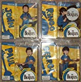 McFarlane Toys 4 Individually Carded Plastic Blister Package Set Beatles Cartoon Set Ringo John George Paul