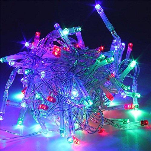 SOLMORE 20M 200 LED String Dekorative Strip Lichterkette Weihnachtsbeleuchtung für Weihnachten Party 220V Bunt