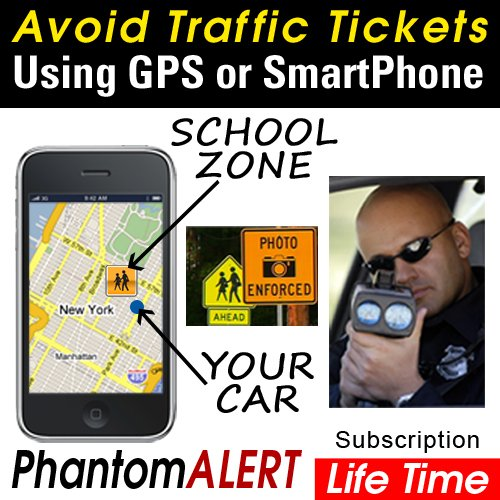 PhantomALERT Red Light Camera, Speed Camera and Speed Trap Detector Software for select Garmin, TomTom and Magellan GPS (Lifetime Subscription)
